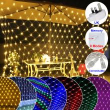 200 LEDs Net Lights AC220V-240V Waterproof Fairy String Light Wedding Party Holiday Decoration Outdoor Garden Lamp UK Plug D30