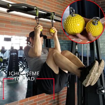 72/97mm Pull-Up Power Ball Wrist Training Grip Ball Training Arm Muscles Barbells Gym Hand Grip Ball Exerciser Fitness