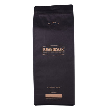 resealable  flat bottom coffee packaging bags