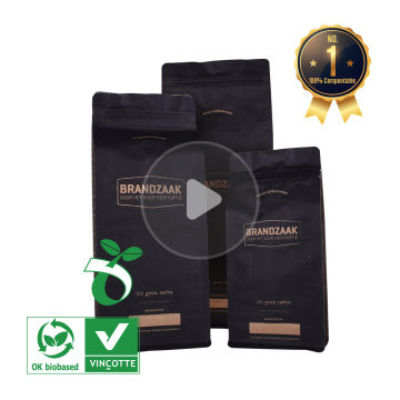 1kg kraft paper coffee bags with valve