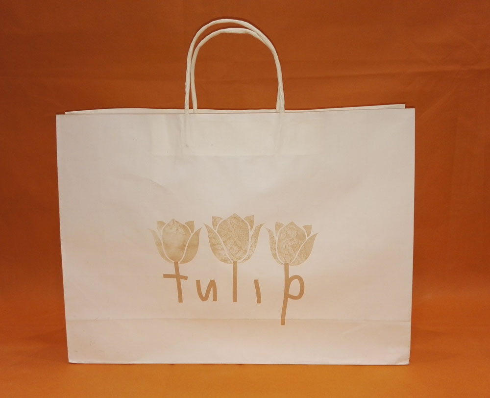 Print Kraft Paper Bags With Flower