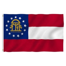 American Georgia state flag with brass grommets