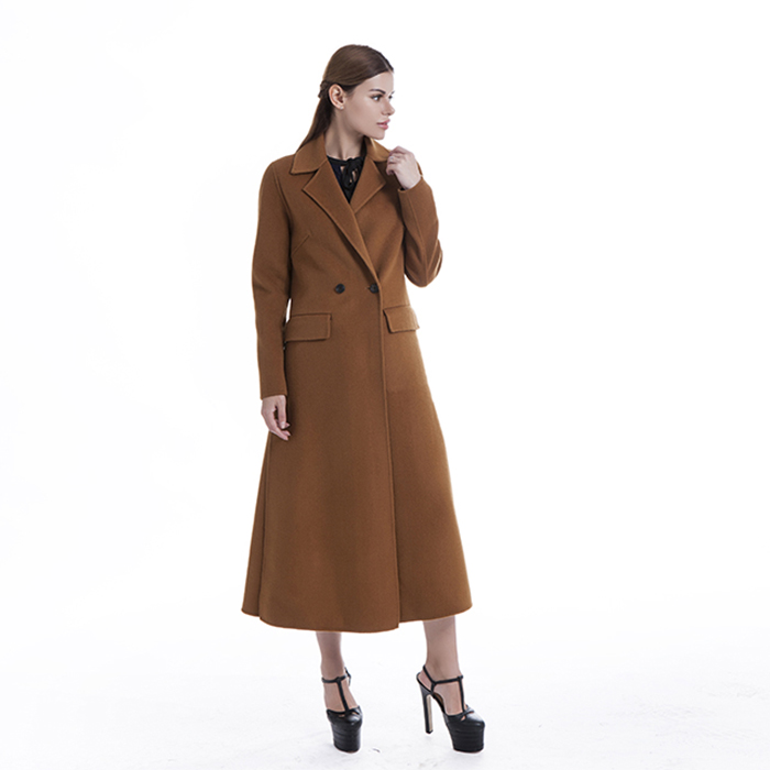 Camel cashmere winter coat