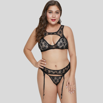 Custom plus size lace bra set lingerie