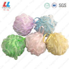 bath and shower sponge loofah mesh pouf sponge
