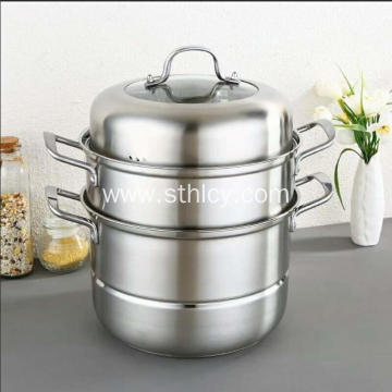 3 Tier Stainless Steel Food Steamer Pot