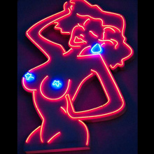 LADY & Girl LED NEON ILLUMINATED SIGNAGE