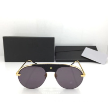 Semi Rimless Round Sunglasses for Women