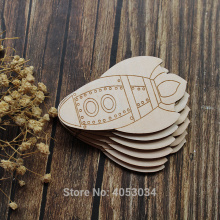 Wooden Comic Rocket Craft Shapes Plywood