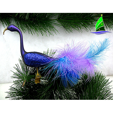 Flamingo Design Christmas Glass Ornament