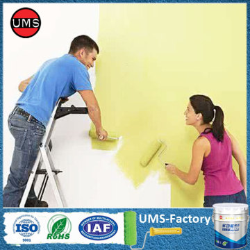 Acrylic latex enamel elastomeric house paint