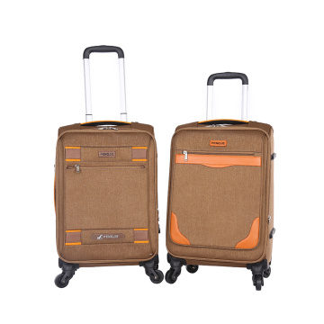 Nylon brown light weight business luggage sets
