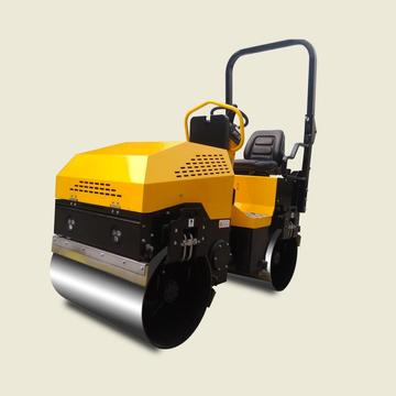 Hydraulic vibration double steel wheel road roller