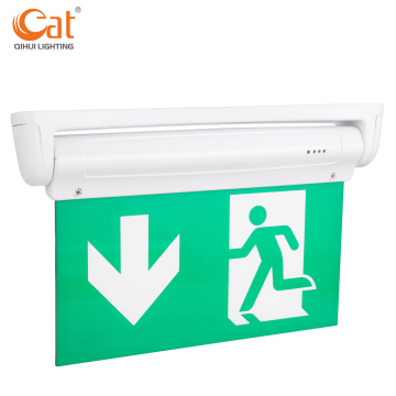 Running man emergency exit light with tube