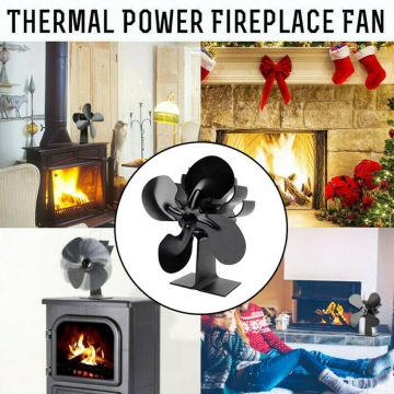 Fireplace Heat Powered Stove Fan Wood Log Burner Ecofan Quiet Heat Distribution Fireplace Fan Firewood Stove Fan For home