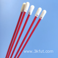 Red Oral Care Foam Tip Sample Collecting Swab