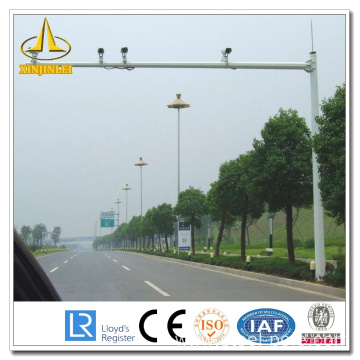 Polygonal Treated CCTV Steel Pole