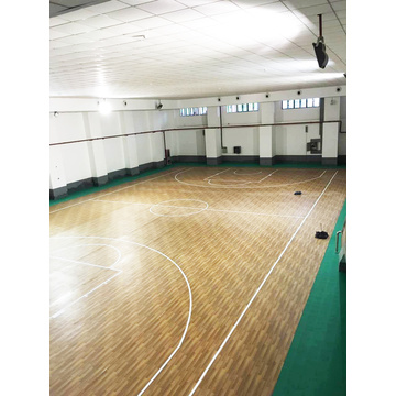 Multipurpose sports flooring basketball court