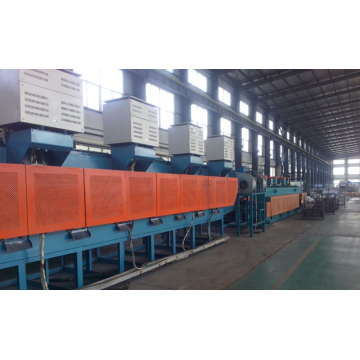 Continuous spring hardening furnace