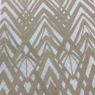 Two-Dimensional Space Pattern Beige Embroidery Fabric