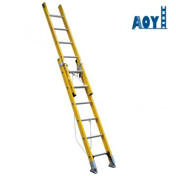 Straight type fiberglass ladder