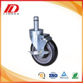 5'' grip ring caster with brake