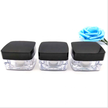 Wholesale Clear acrylic square cosmetic jars with good price