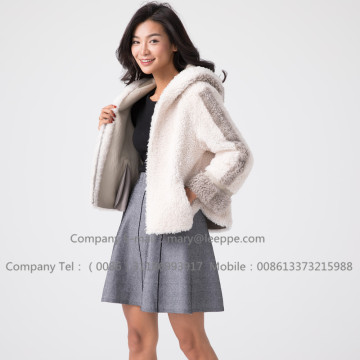 Winter Women Short Merino Shearling Jacket