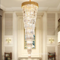 Hotel villa luxury big crystal led chandelier pendant