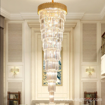 Customized banquet lobby villa big crystal chandelier light