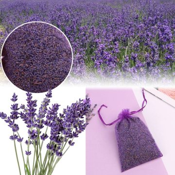 Natural Lavender Bud Dried Flower Sachet Bag Aromatherapy Aromatic Air Refresh Office Home Fragrance Sachets Bags 4 Sizes