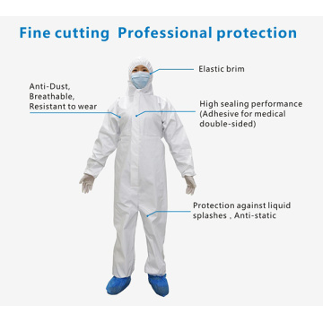 Sterile Disposable Hospital Safety Isolation Coverall
