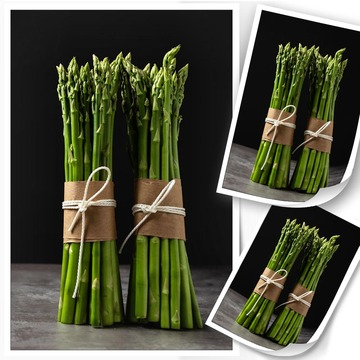 Canvas Painting Fresh Green Asparagus Posters and Prints Wall Art Picture for Living Room Decor No frame