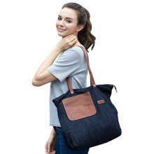 Denim Totes Shoulder Bag with Pockets