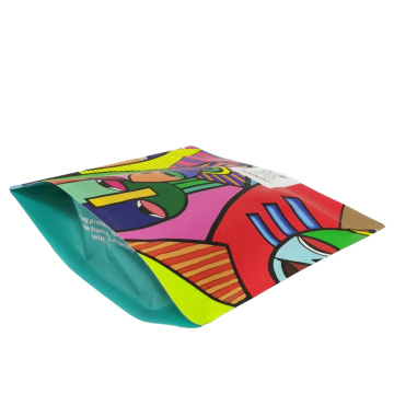custom printed colorful standup bag for coffee