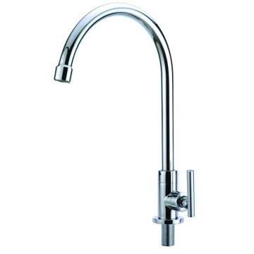 Single handle kitchen faucet cold water only