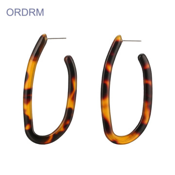 U Shaped Acrylic Hoop Earrings Wholesale