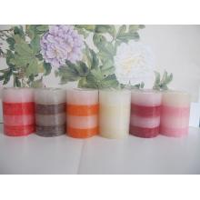Paraffin Wax Rustic Long-lasting Pillar Candle