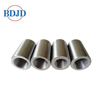 Parallel thread steel bar splicing coupler