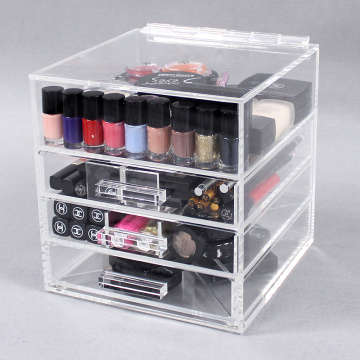 Clear Acrylic Makeup Storage Containers