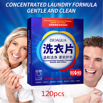 120PCS Formula Laundry Detergent Nano Super Concentrated Washing Soap Gentle Washing Powder Sheets Laundry Cleaning Products^20