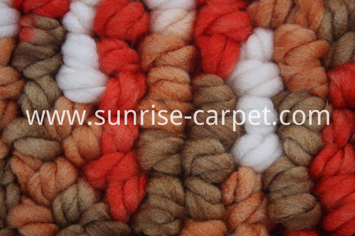 Polyester Loop Shaggy with Spacedye yarn