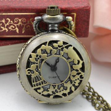 Vintage Steampunk Retro Bronze Design Pocket Watch Quartz Pendant Necklace Pendant with Chain Custom Engraved Gift cep saati #10