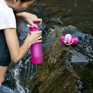 Organic Silicone Filter Water Bottles