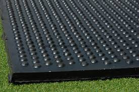 interlocking flooring cow mat