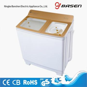Gold Transparent Glass Cover 10KG Double Layer Washing Machine