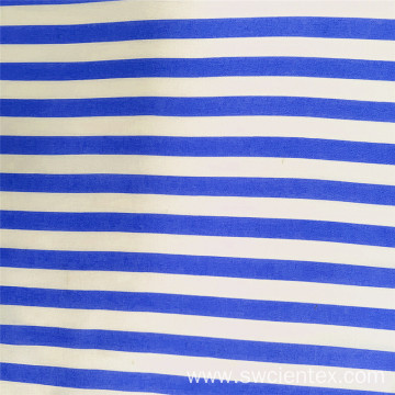 Blue White Striped 100% Rayon Print Shirt Fabrics