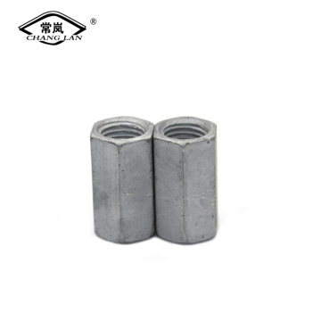 Hexagon long carton steel /brass joint connector nut