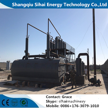 Waste Tire Oil Vacuum Distillation Plant With CE