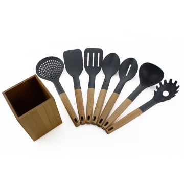 7PCS Nylon Kitchen Utensil Set With Holder